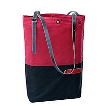 Veľké tašky - Dámská taška MARILYN RED & BLACK - 10733113_