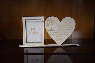 Darčeky pre svadobčanov - Poďakovanie Rodičom s fotografiou 1 - 10731895_