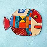Taštičky - Red Whale - kožená taštička - 10731264_