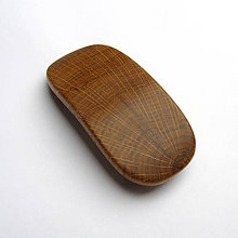 Ozdoby do vlasov - Drevená spona do vlasov - stredná dubová priečna - 10732933_