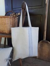 Nákupné tašky - Ľanová nákupná taška Countryside Romance - 10733208_