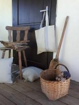 Nákupné tašky - Ľanová nákupná taška Countryside Romance - 10733210_