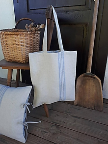 Nákupné tašky - Ľanová nákupná taška Countryside Romance - 10733207_