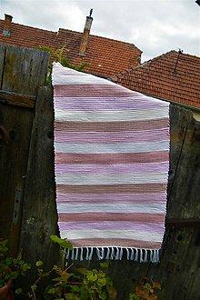 Úžitkový textil - Tkaný koberec ružovo-béžový - 10731128_