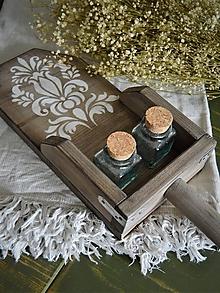 Pomôcky - Stará drevená lopatka s ornamentom - 10732169_