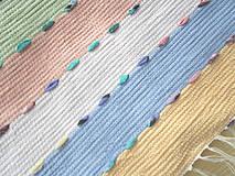 Úžitkový textil - pastelový koberec - 10735254_