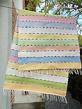 Úžitkový textil - pastelový koberec - 10735255_