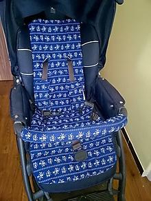 Textil - Podložka do kočíka + obal na madlo - 10734208_