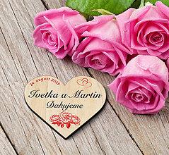 Darčeky pre svadobčanov - Svadobná magnetka - 10736260_