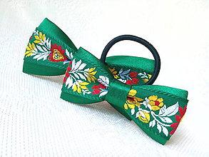 Iné doplnky - Folklórny set (pánsky motýlik + mašlička do vlasov) - 10735344_