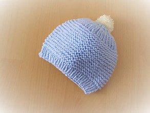 Detské čiapky - Detská čiapočka modrá - 10736138_