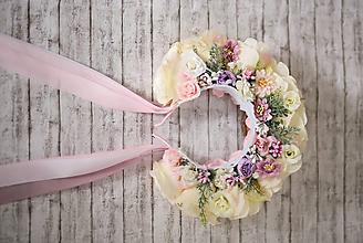 Ozdoby do vlasov - Ružová svadobná parta - 10736190_