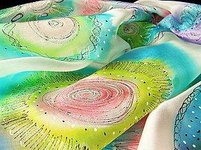 Šály - Mandaly /hedvábná šála 45 x 180 cm/ - 10734606_