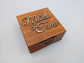 Krabičky - Drevená krabička na prstene - 10735053_