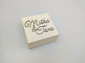 Krabičky - Drevená krabička na prstene - 10735095_