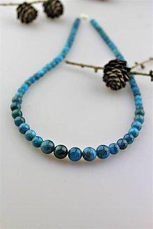 Náhrdelníky - apatit náhrdelník (zapínanie striebro) - 10734484_