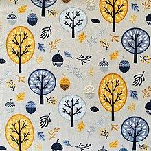 Textil - bavlnený úplet Les, šírka 160 cm - 10735889_