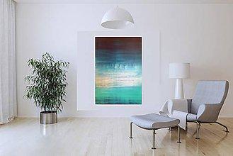 Obrazy - Cross the borders - veľký minimalistický abstrakt - 10734265_