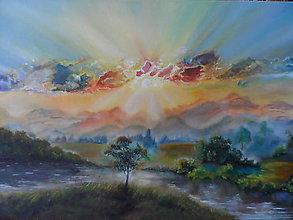 Obrazy - Ráno nad krajinou - 10736179_