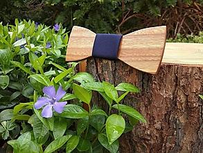 Doplnky - Pánsky drevený motýlik - 10736603_