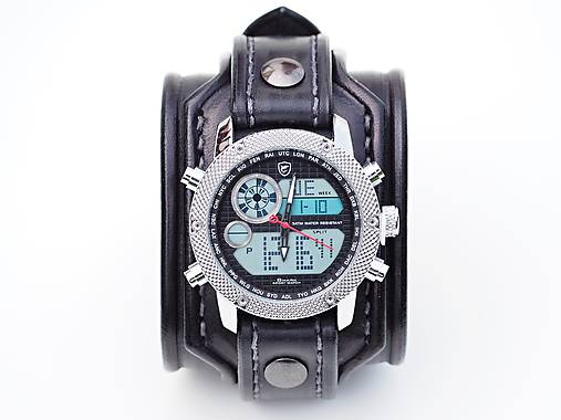 0c234ff3d Steampunk hodinky, kožený remienok, hnedý remienok / leon - SAShE.sk ...