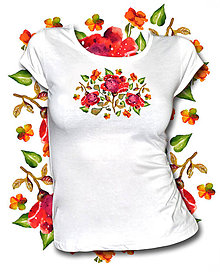 Tričká - Tričko Roses - 10735718_