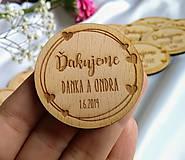 Darčeky pre svadobčanov - Magnetka pre svadobných hostí . Love - 10737208_