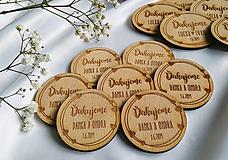 Darčeky pre svadobčanov - Magnetka pre svadobných hostí . Love - 10737209_