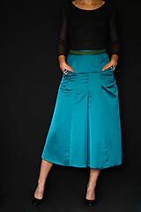 Sukne - Spoločenská sukňa do A rôzne farby s ozdobnými gombíkami - 10735478_
