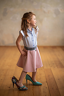 Sukne - Ružová detská suknička - 10735537_
