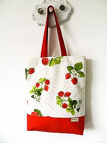 Nákupné tašky - Jahodová taška - 10734925_