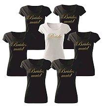 Tričká - Tričko pre družičky Brides maid - 10735903_