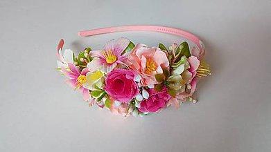 Detské doplnky - Kvetinova celenka - farebna II - 10734531_