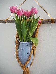 Drobnosti - Macrame kvetináč - 10734909_
