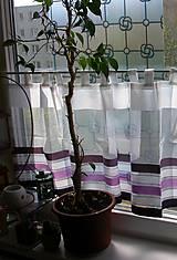 Úžitkový textil - Záclonka - vytrážka na okno 1014 - 10737099_