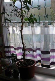 Úžitkový textil - Záclonka vitrážka  - Pruhovaná zebra - 10737099_