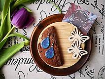Náušnice - Elegantné modrofialové náušničky - 10735454_