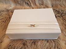 Iné doplnky - Krabička na svadobný USB kľúč - dve srdcia - 10735158_