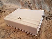 Iné doplnky - Krabička na svadobný USB kľúč - dve srdcia - 10735159_