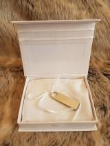 Iné doplnky - Krabička na svadobný USB kľúč - dve srdcia - 10735161_