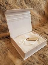 Iné doplnky - Krabička na svadobný USB kľúč - dve srdcia - 10735162_