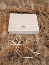 Iné doplnky - Krabička na svadobný USB kľúč - dve srdcia - 10735163_