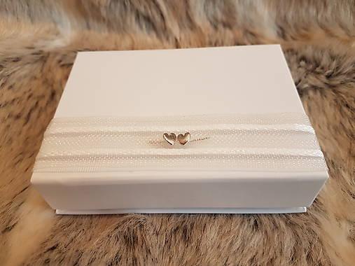 Krabička na svadobný USB kľúč - dve srdcia