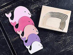 Hračky - Vkladačka veľrybka - 10735378_