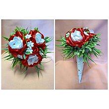 Drobnosti - Saténové kytičky z ruží - 10735019_