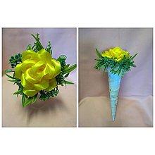 Drobnosti - Saténové kytičky z ruží - 10735058_