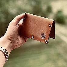 Peňaženky - Kožená peňaženka - Kožený držiak na karty - Leather wallet - 10735542_