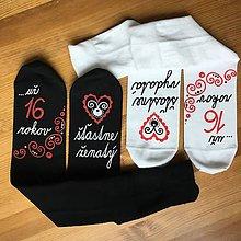 Obuv - Maľované ponožky k 16. výročiu svadby - 10737121_