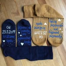 Obuv - Maľované ponožky pre novomanželov - 10737150_
