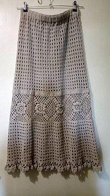 Sukne - suknička tak trochu ľanová - 10736158_